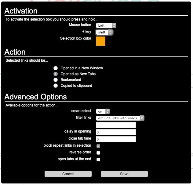 オプション画面スクリーンショット
